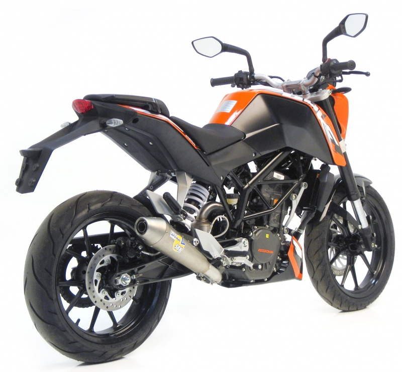 silencieux leovince sbk gp style pour la ktm 125 duke. Black Bedroom Furniture Sets. Home Design Ideas