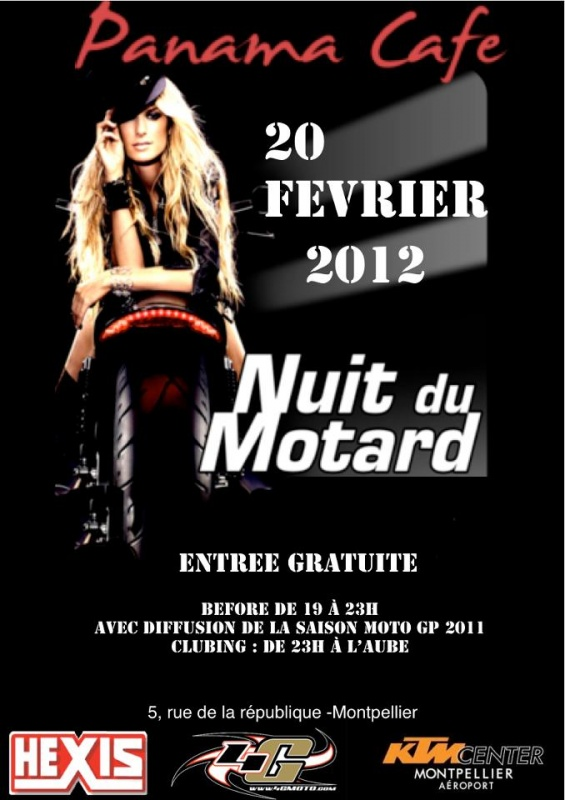 nuit du motard le 20 f vrier 2012. Black Bedroom Furniture Sets. Home Design Ideas