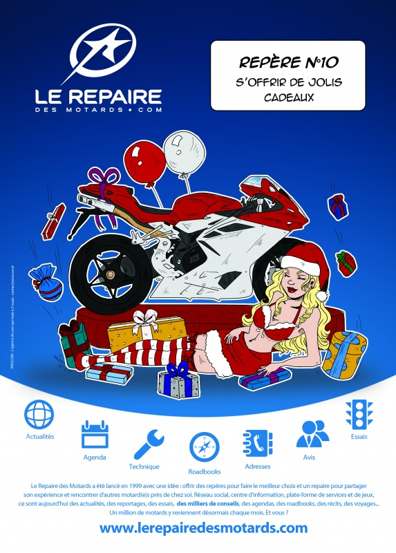 saga publicitaire le repaire des motards rep re n 10. Black Bedroom Furniture Sets. Home Design Ideas