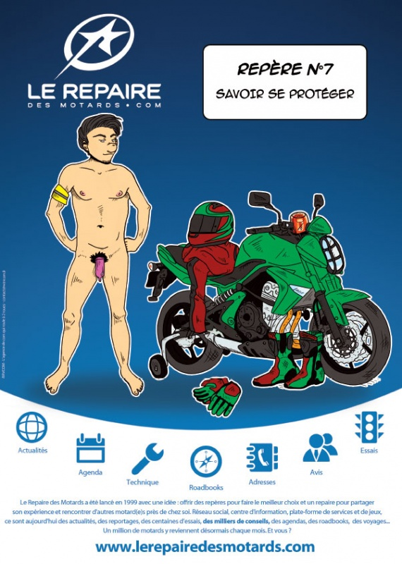 saga publicitaire le repaire des motards rep re n 7. Black Bedroom Furniture Sets. Home Design Ideas