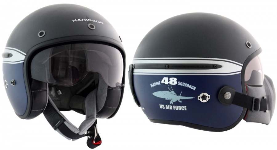 Casque Jet Harisson Corsair Squadron