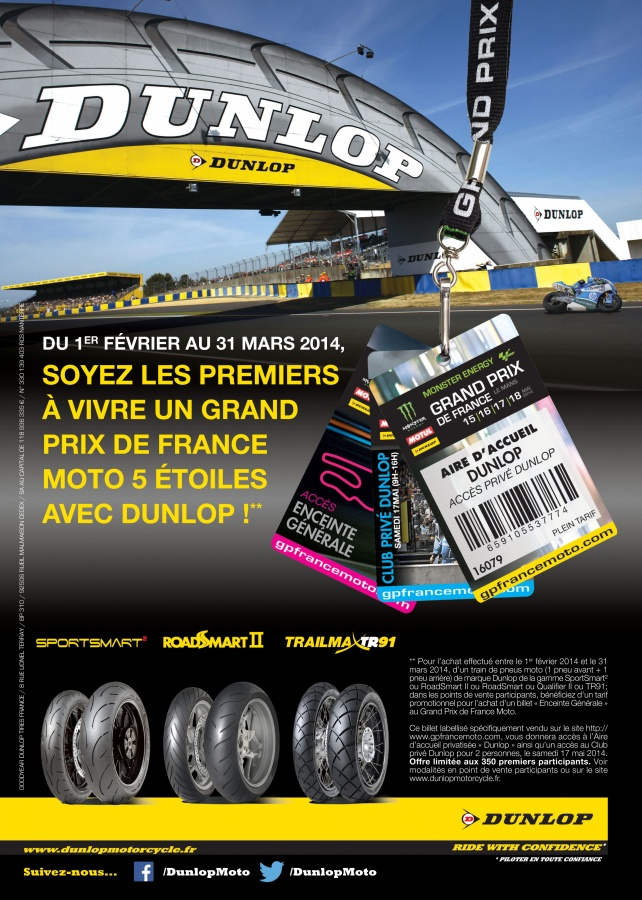 promo dunlop op ration gp de france. Black Bedroom Furniture Sets. Home Design Ideas