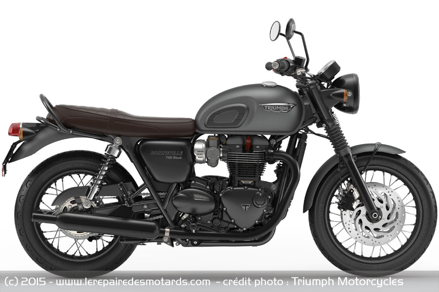 triumph bonneville t120 et t120 black. Black Bedroom Furniture Sets. Home Design Ideas
