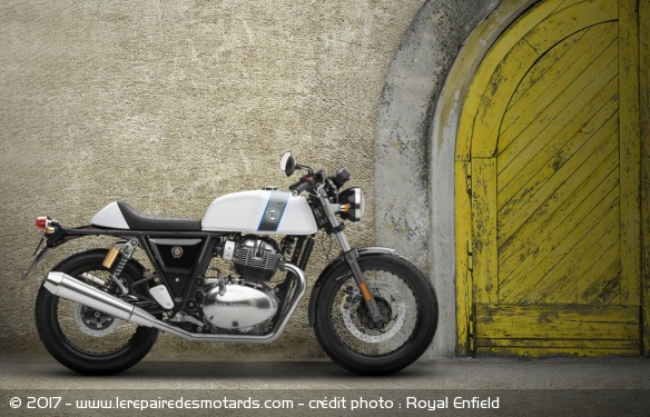 Royal Enfield 650 Continental GT, statique