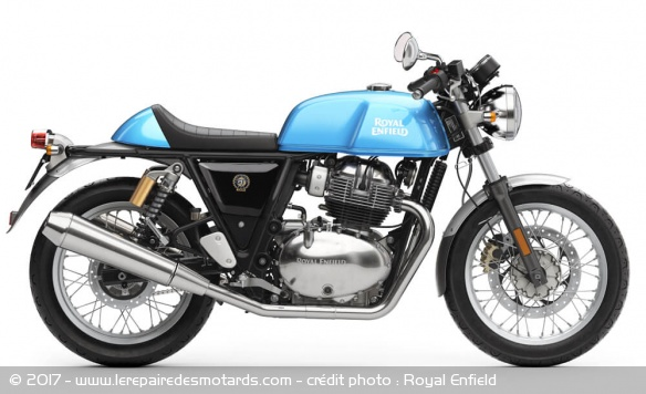 Royal Enfield 650 Continental GT bleue