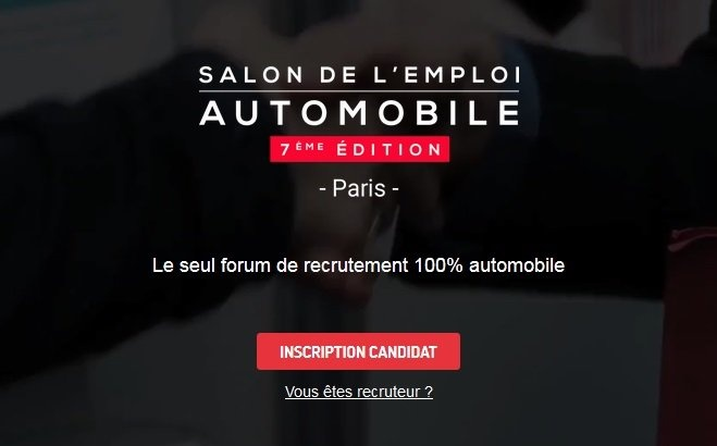 2400 postes au salon de l 39 emploi automobile for Salon de l emploi paris