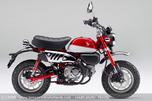 Honda Monkey 125 rouge
