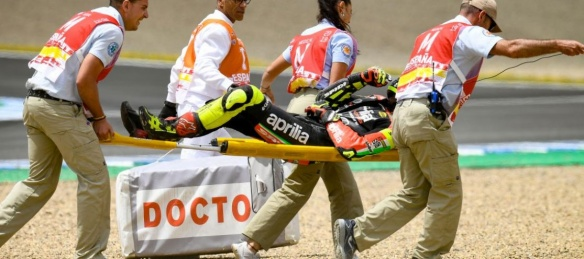 Accident moto pour Iannone (cp) Photo : MotoGP