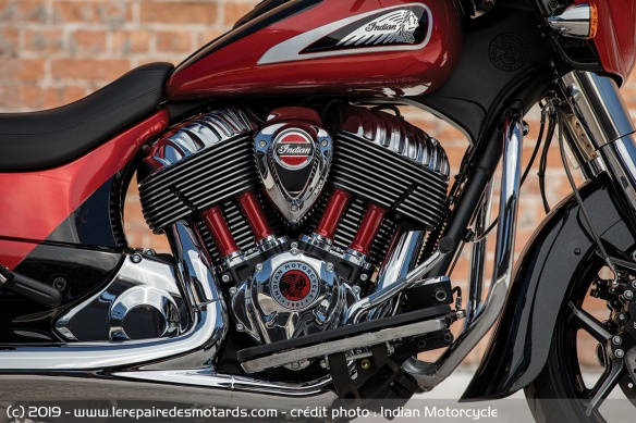 Le Thunder Stroke 116 de l'Indian Chieftain Elite