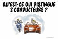 Qu distingue 2 conducteurs ?