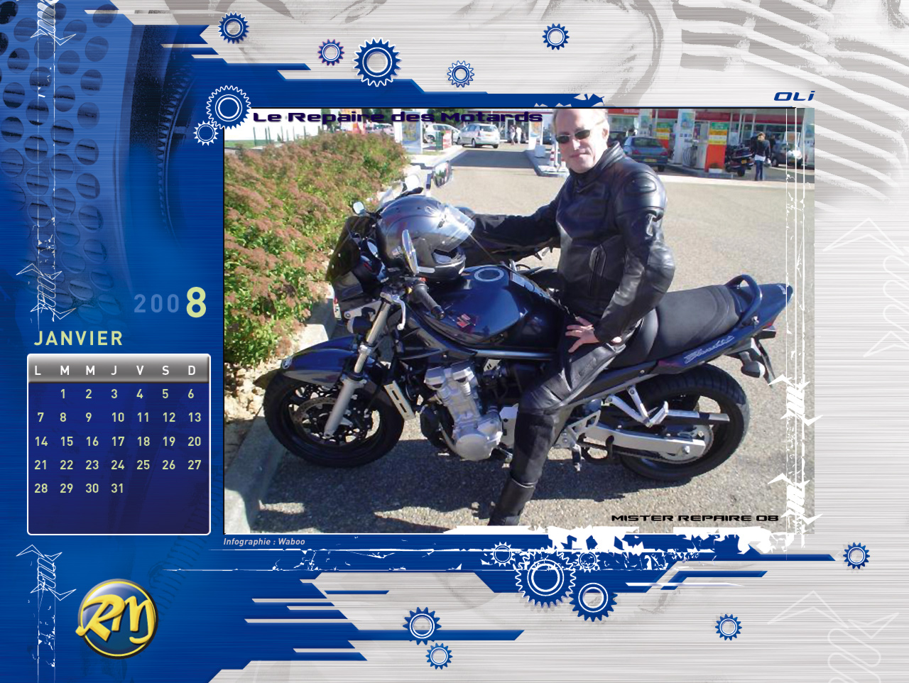 le calendrier 2008 du repaire des motards. Black Bedroom Furniture Sets. Home Design Ideas