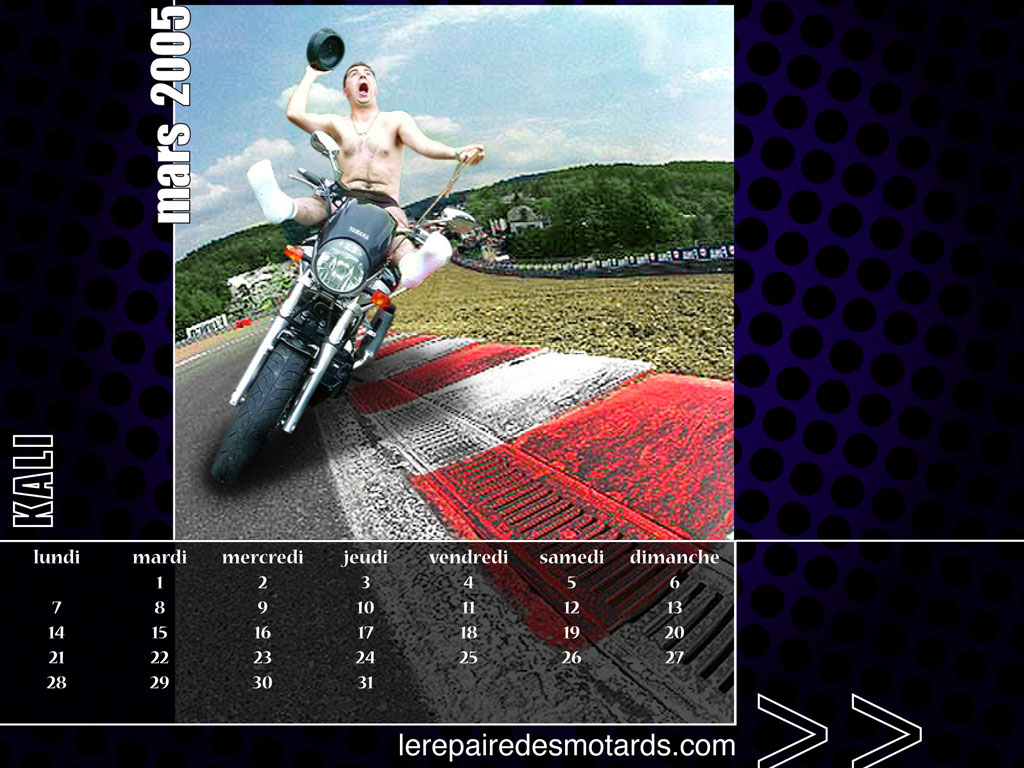 le calendrier 2005 du repaire des motards. Black Bedroom Furniture Sets. Home Design Ideas