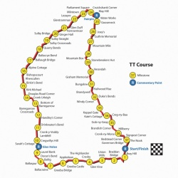 Tourist Trophy : plan du Snaefell Mountain Course