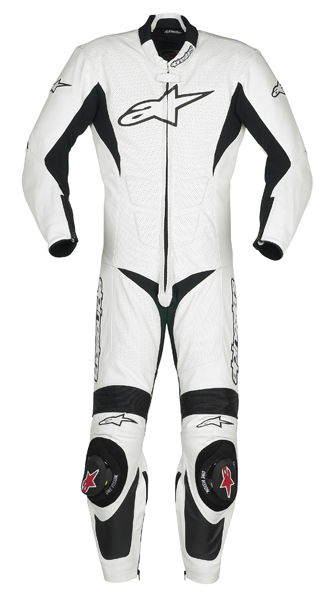 combinaison sp1 1pc blanc alpinestars avis quipement moto. Black Bedroom Furniture Sets. Home Design Ideas