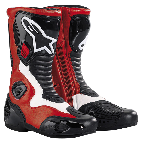 bottes smx5 rouge alpinestars avis quipement moto. Black Bedroom Furniture Sets. Home Design Ideas