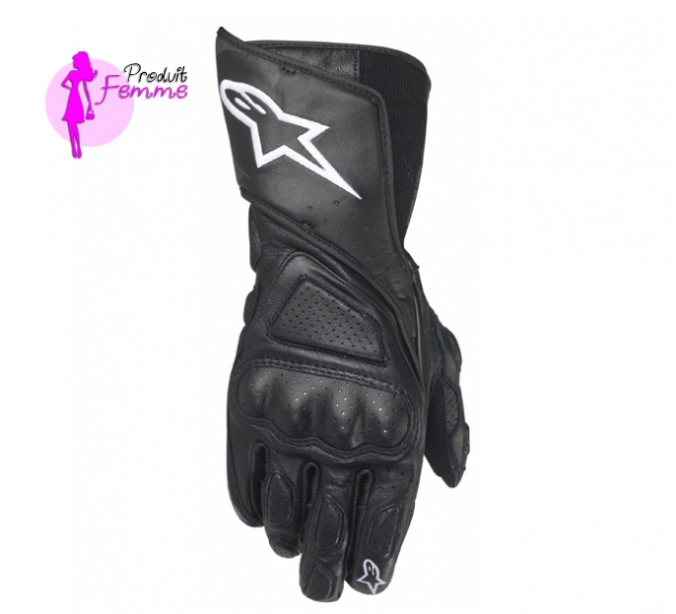 gants stella sp8 noir alpinestars avis quipement moto. Black Bedroom Furniture Sets. Home Design Ideas