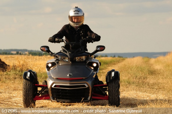 BRP Can-Am Spyder F3 S de face