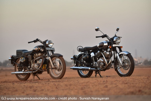 La Royal Enfield Bullet 500 et la Carberry Double Barrel