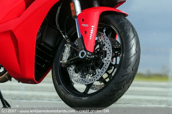 Frein avant de la Ducati Supersport