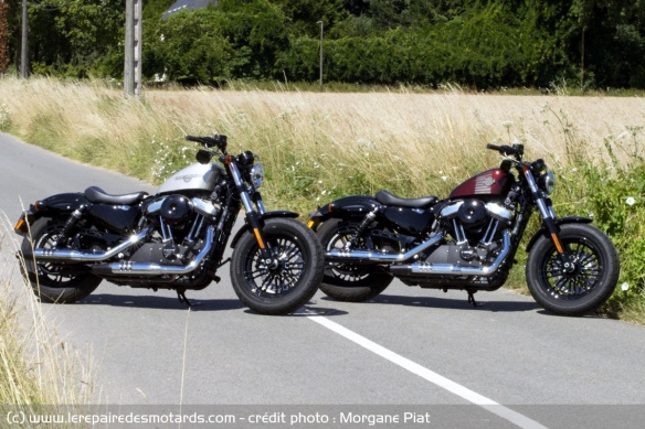 Les Harley-Davidson Forty-Eight en versions standard et A2