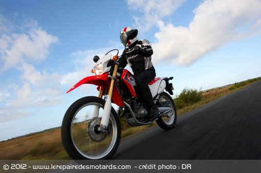 Honda CRF 250 L sur nationale