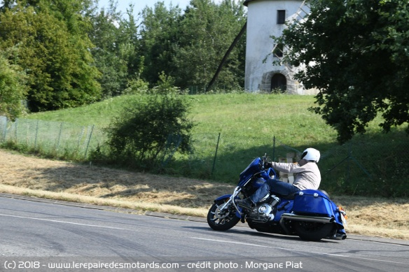 L'Indian Chieftain Limited en courbe