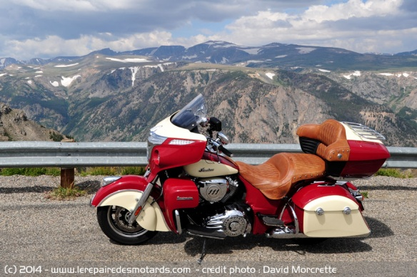 Essai Indian Roadmaster en montagne