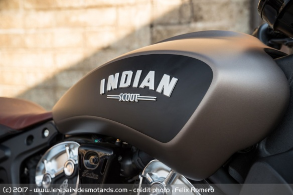 Le réservoir de l'Indian Scout Bobber
