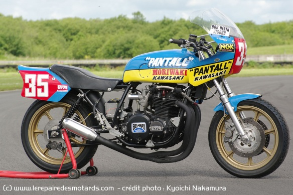 The Moriwaki Kawasaki Z1B weighs only 160 kg when dry