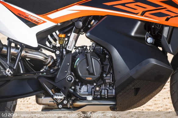 Le bicylindre de la KTM 790 Adventure