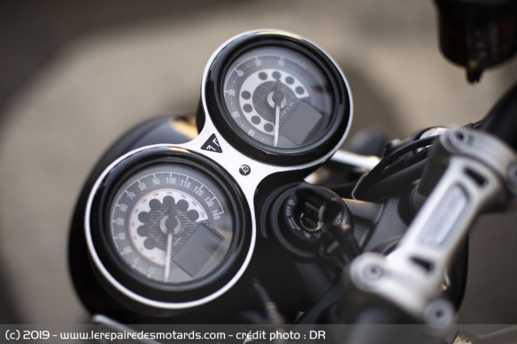 Instrumentation de la Triumph Speed Twin