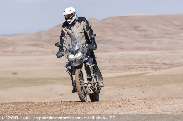 La Triumph Tiger 800 XCa en off-road