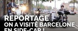 Barcelone en side-car