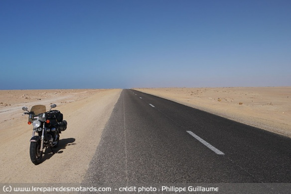 Moment de solitude dans le Sahara occidental